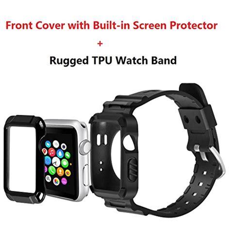 Cover Screen Protector Untuk Apple Series 1 42mm apple series 1 2 42mm with protective screen protector black ebay
