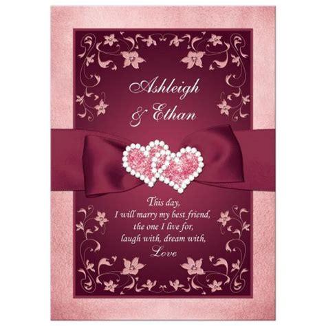 Burgundy Themed Wedding Invitations