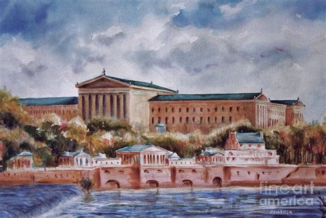 Landscaper Philadelphia Philadelphia Museum Painting By Joyce A Guariglia