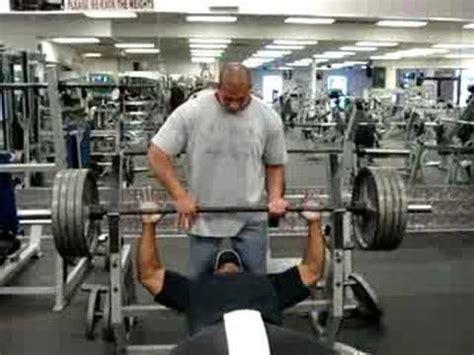 405 pound bench press big dennis bench pressing 405 lbs x 2 youtube