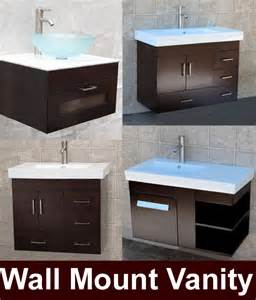 36 quot bathroom wall mount vanity cabinet ceramic top sink ebay