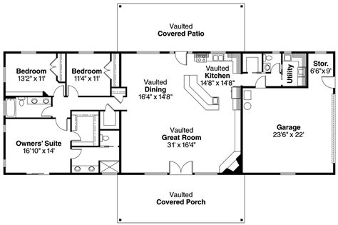 ranch house floor plans open plan ranch house plans ottawa 30 601 associated designs