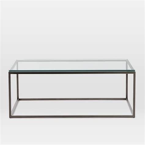 box frame coffee table box frame coffee table glass antique bronze west elm