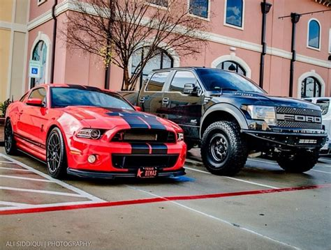 shelby gt500 and f 150 raptor cars