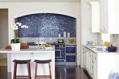 Blue La Cornue CornuFe Range with Grey Marble Cooktop