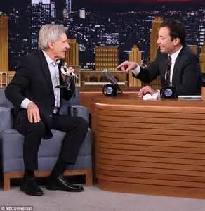 Jimmy Fallon Harrison Ford Harrison Ford Talks Wars Episode Vii On The Tonight