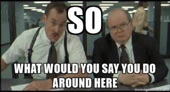 What Would You Do Meme - so what would you say you do around here office space