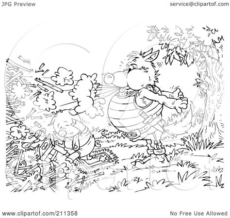 stick house coloring page royalty free rf clipart illustration of a coloring page