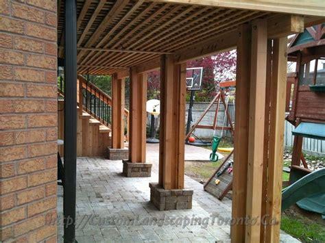 deck with walkout basement designs walkout basement deck plans custom landscaping toronto