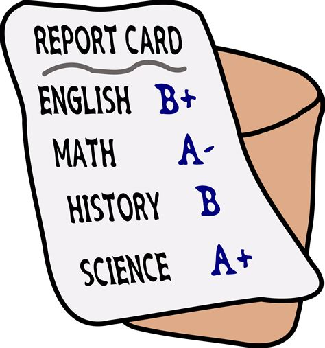report card clipart report card