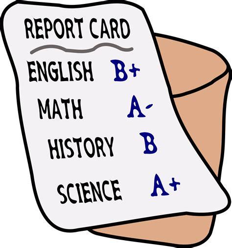 Report Card Clip clipart report card