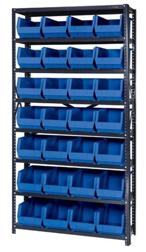Plastic Shelf Storage Bins by Steel Shelving Unit Plastic Storage Bins Qsbu 240 12