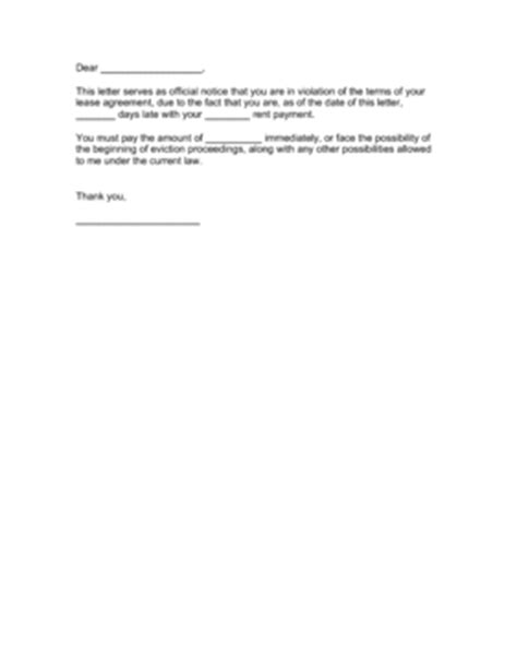 Sle Letter Of Rent Payment Rent Demand Letter Template