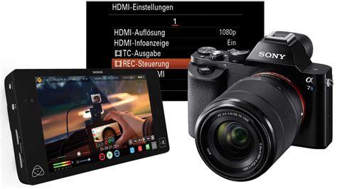 Kamera Sony A7s sony alpha 7s und atomos shogun kamera grundeinstellungen