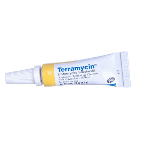 terramycin for dogs terramycin antibiotic ophthalmic ointment 1 8 oz
