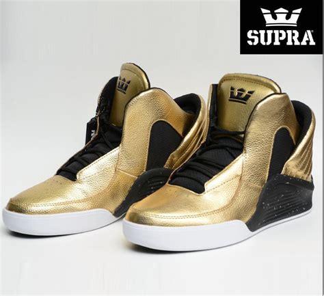 new supra mens lil wayne chimera gold black tennis shoes