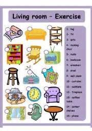 living room items list english teaching worksheets living room