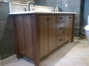 custom made modern walnut bath vanity by dennisbilt custom