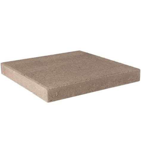 pavestone      pecan concrete step stone   home depot