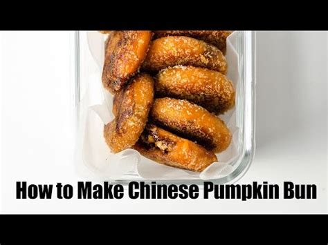 how to make a chinese bun out of yarn chinese pumpkin bun recipe youtube