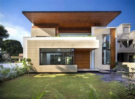 Indian House Design Front View fascinating modern house by charged voids punjab india