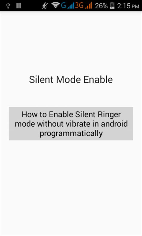 Ringer Silent enable silent ringer mode without vibrate in android