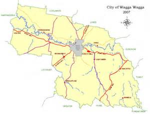Wagga Wagga Botanic Gardens by Local Government Area Map Wagga City Council
