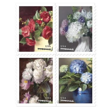 flowers from the garden postage stamp | usps.com