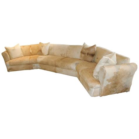 cowhide sofa sale wonderful cowhide covered large curved sofa from the pond