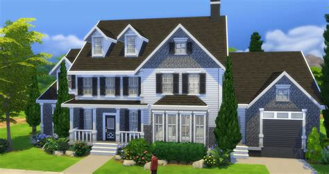 mod  sims moneybags traditional mansion sims haus