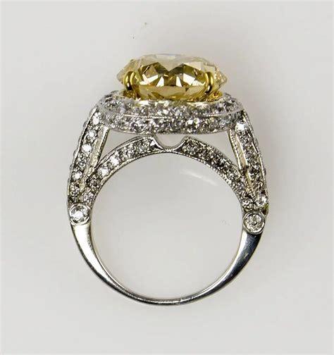 7.24ct Estate Vintage FANCY YELLOW Round Diamond