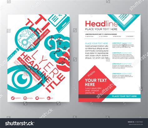 leaflet design concepts typography brochure flyer design layout vector stock