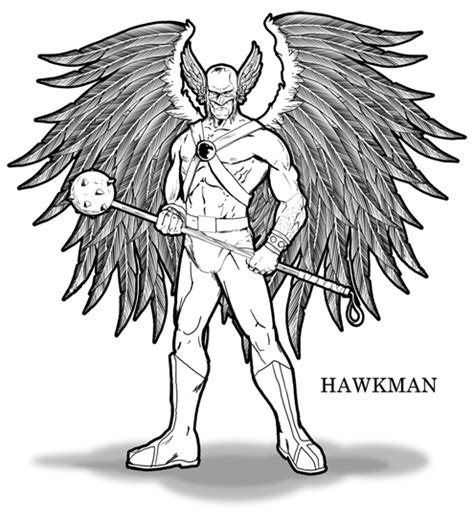 image gallery hawkman coloring pages
