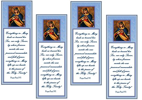 free printable prayer cards template immaculate of