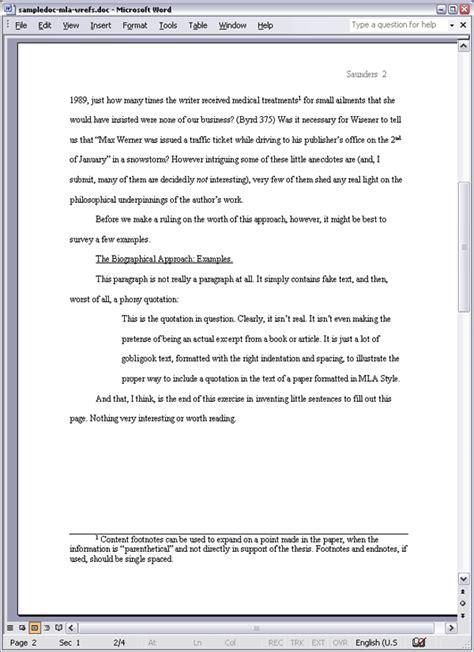 mla format essay sle apa style content