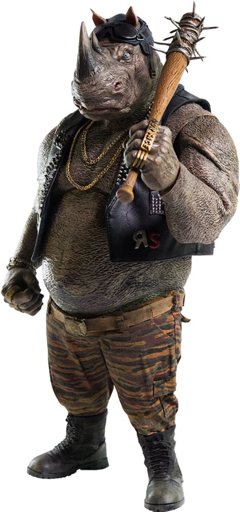 tmnt rocksteady sixth scale figure by threezero sideshow