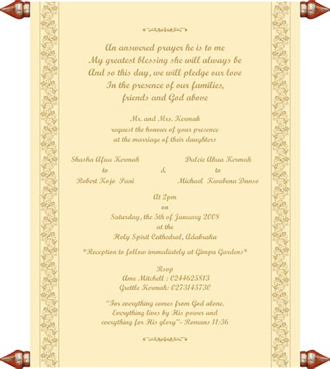 christian wedding ceremony template chritian wedding invitation templates shower