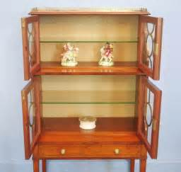 china cabinet display satinwood display china cabinet antiques atlas