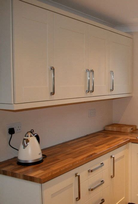 cream shaker kitchen ideas existing kitchen transformed with painted cupboard doors