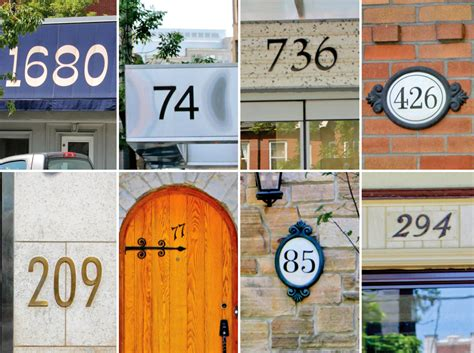how a house gets an address number spacing