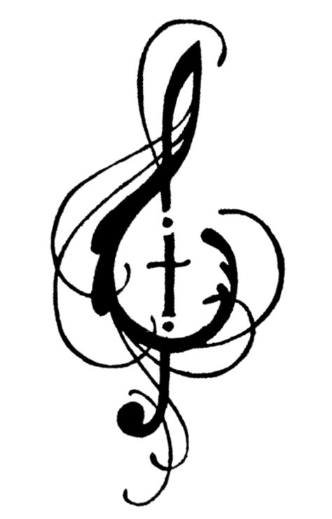 cross and music note tattoo image cross png dumbledore s army