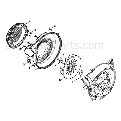 stihl bg 86 blower parts diagram stihl bg 86 blower bg86c parts diagram fan housing outer