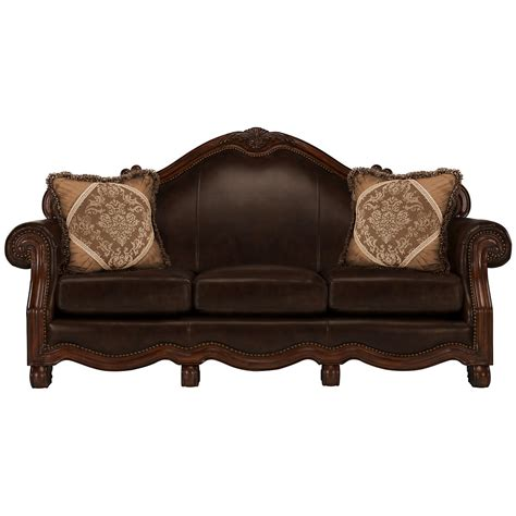 dark leather sofa city furniture regal dark tone leather sofa