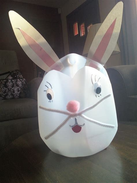 gallon milk jug crafts bunny basket made from milk gallon jug for preschool class