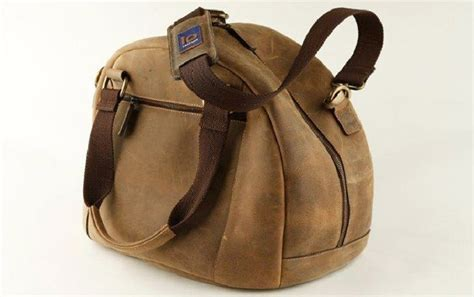 Tas Motor Vintage tas helm dari kulit sapi mewah dan berkesan vintage