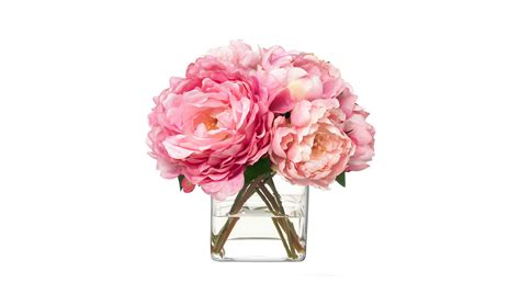 Buy Bouquet by Diane Pink Peonies Bouquet Buy At Luxdeco