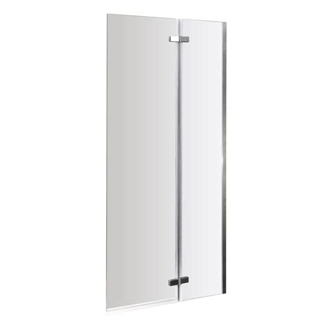 hinged bath shower screens premier ella hinged shower bath shower screen 1400 x 735mm