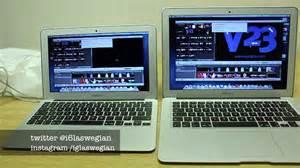 Macbook Air November macbook air 11 quot vs macbook air 13 quot haswell speed test rendering exporting