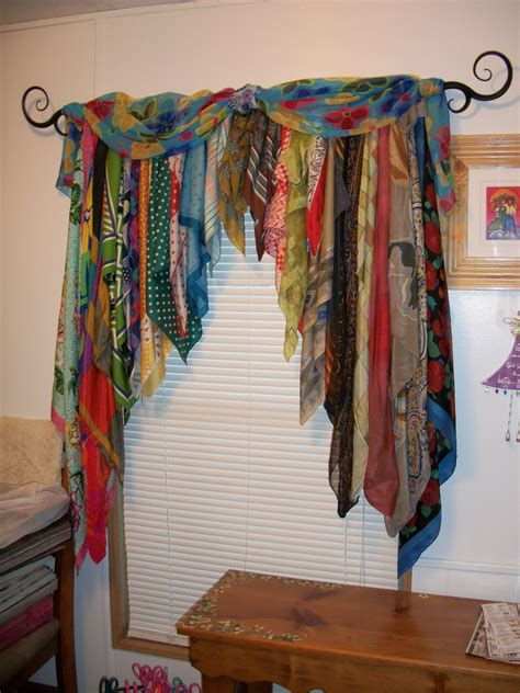 bohemian curtains ॐ american hippie diy crafts use old scarves to make a