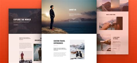layout web travel stunning free divi layout pack for travel websites